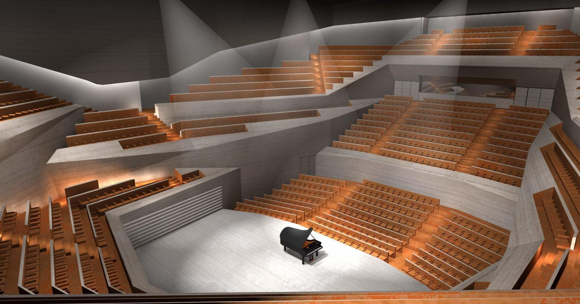 Varsói koncertterem belső látványa