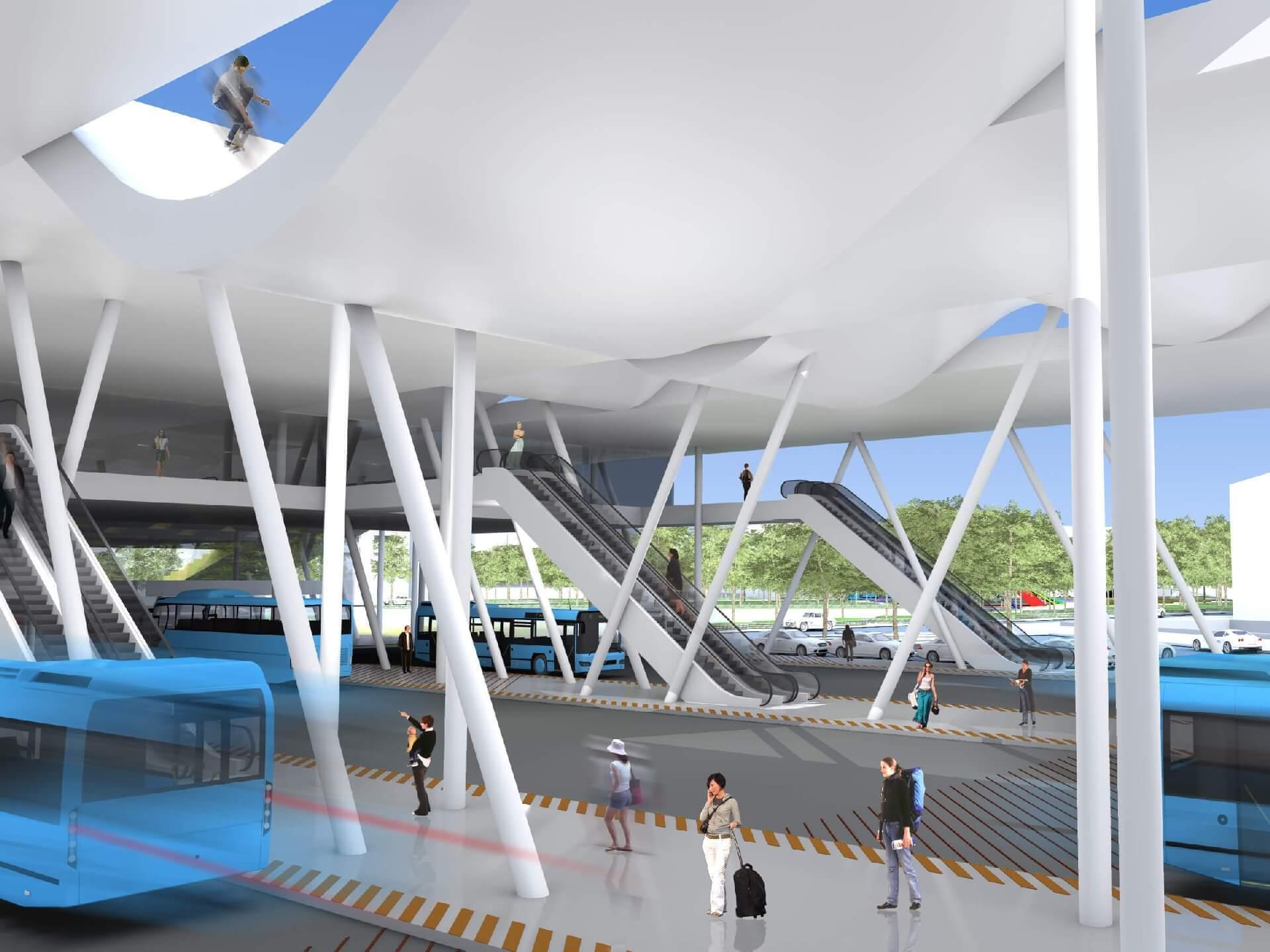 Intermodális Közlekedési Központ - buszváró