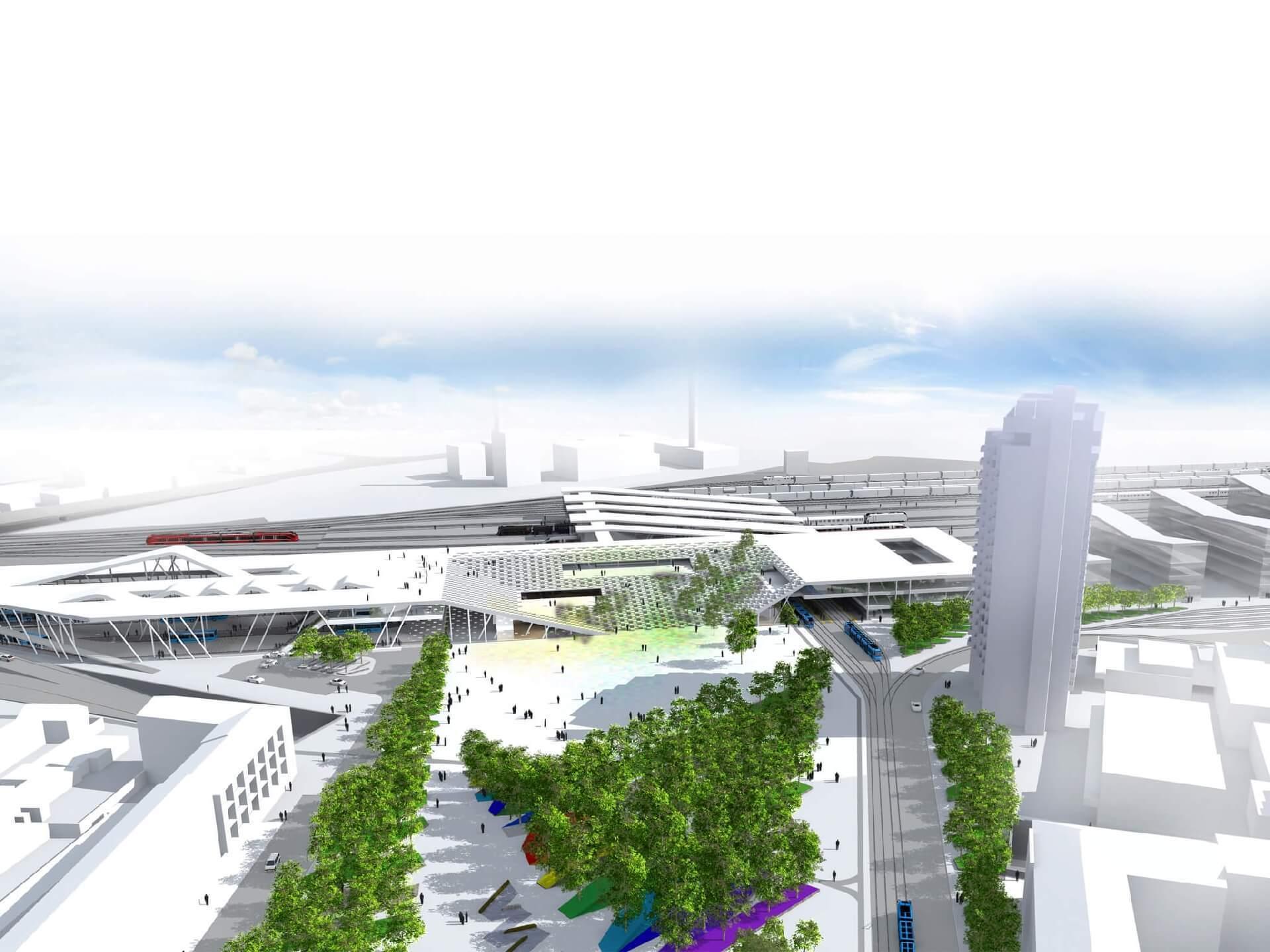 Intermodális Közlekedési Központ városi térkapcsolata
