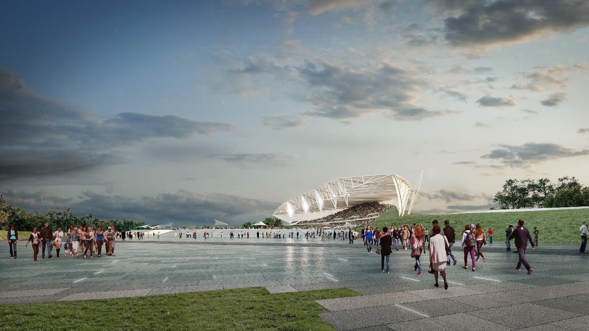 Budapesti Atlétikai Stadion - 15000 fős lelátó