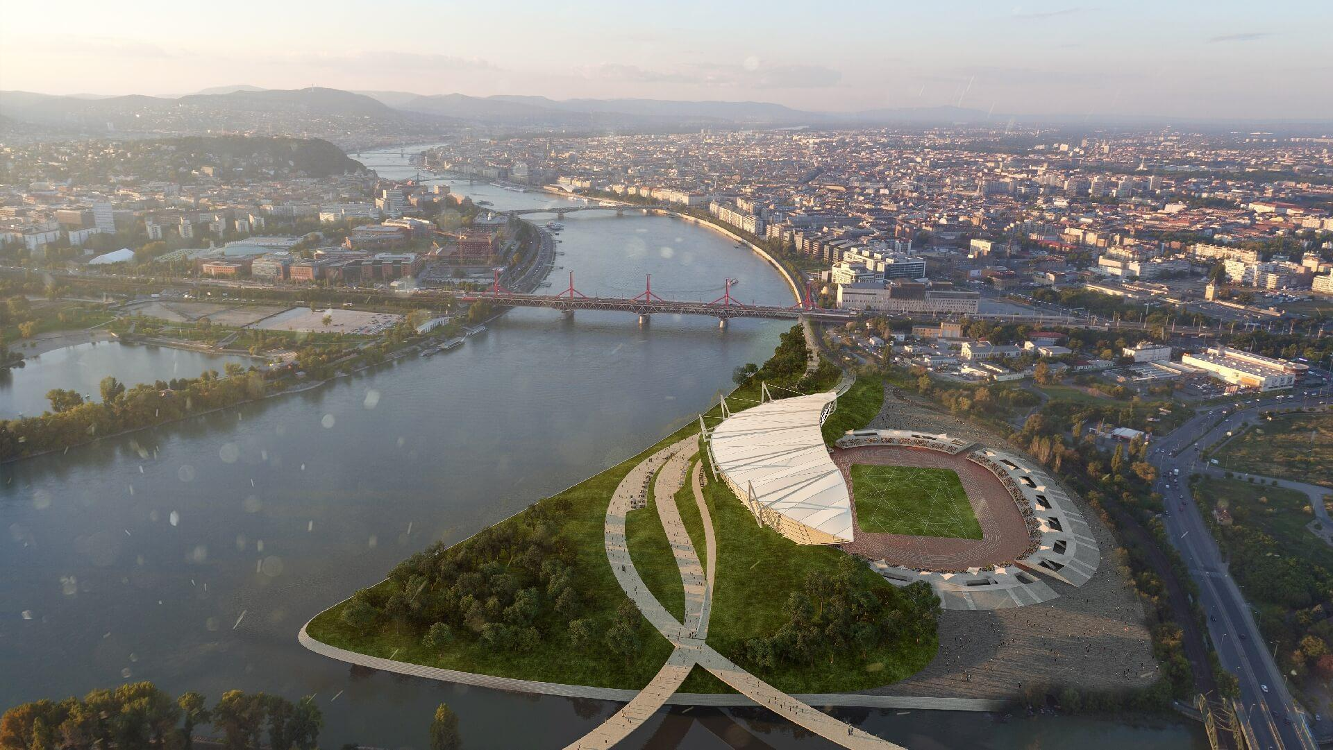 Budapesti Atlétikai Stadion - madártávlat