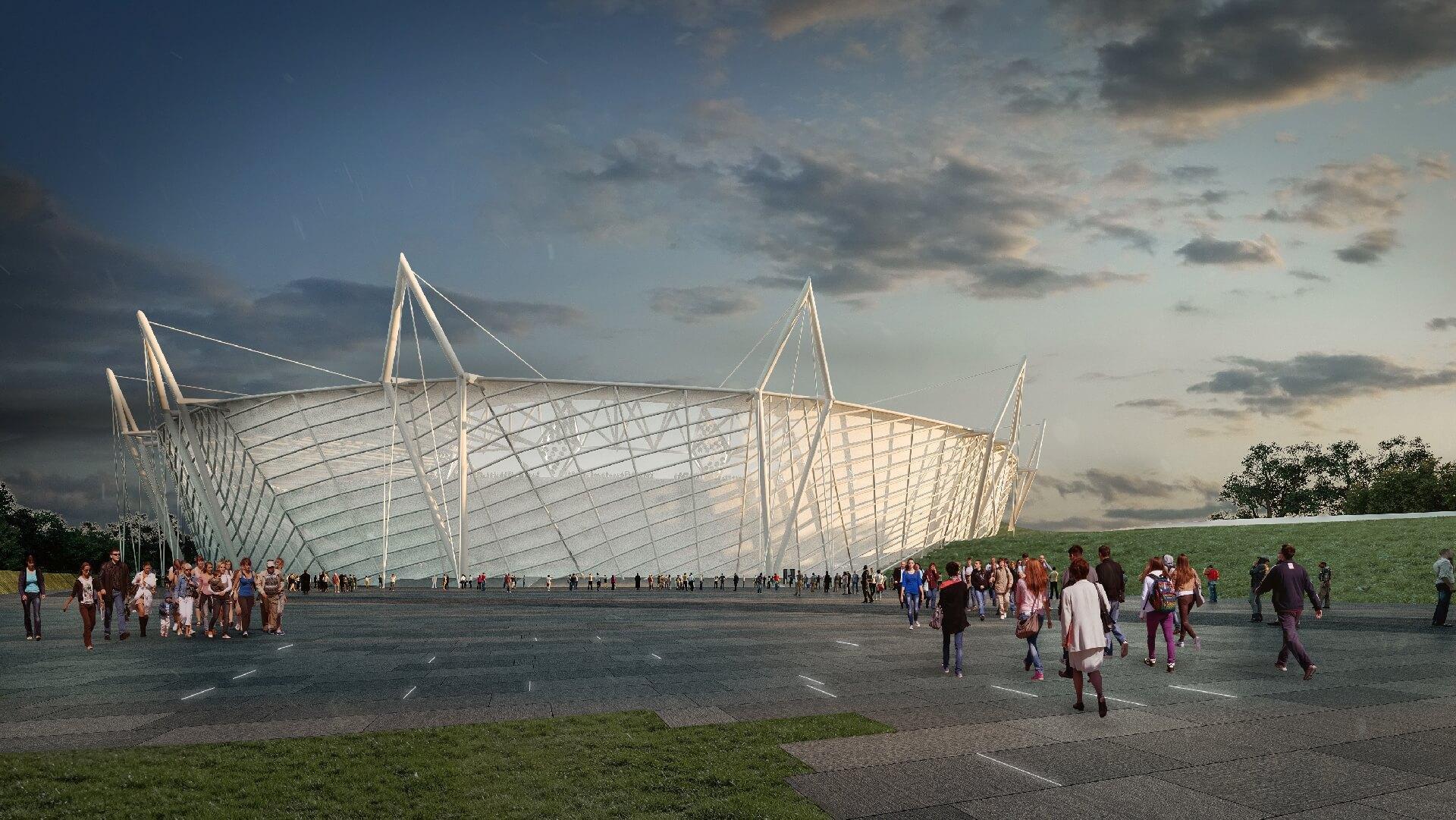 Budapesti Atlétikai Stadion - bővített állapot