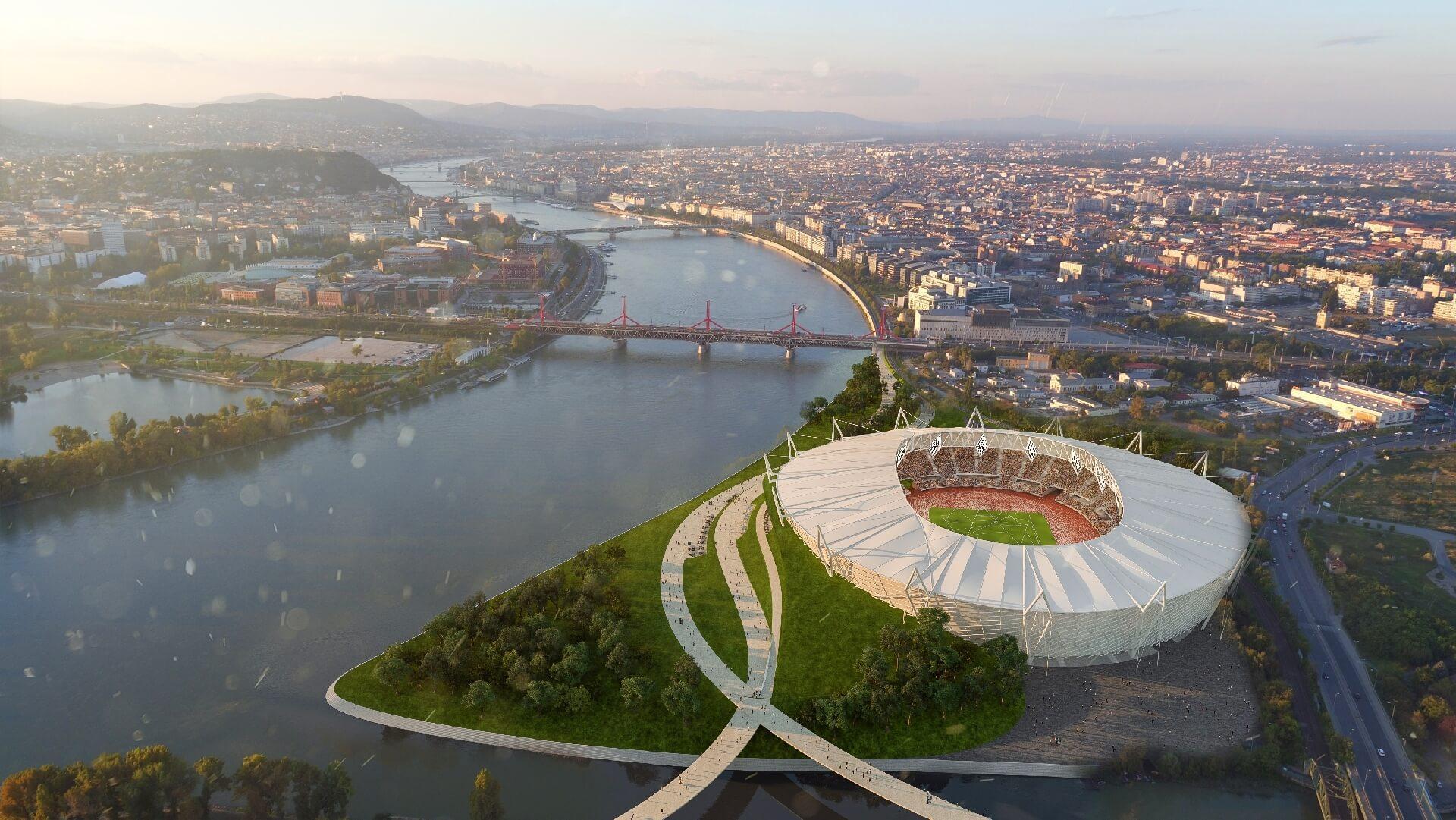 Budapesti Atlétikai Stadion - madártávlat dél felől