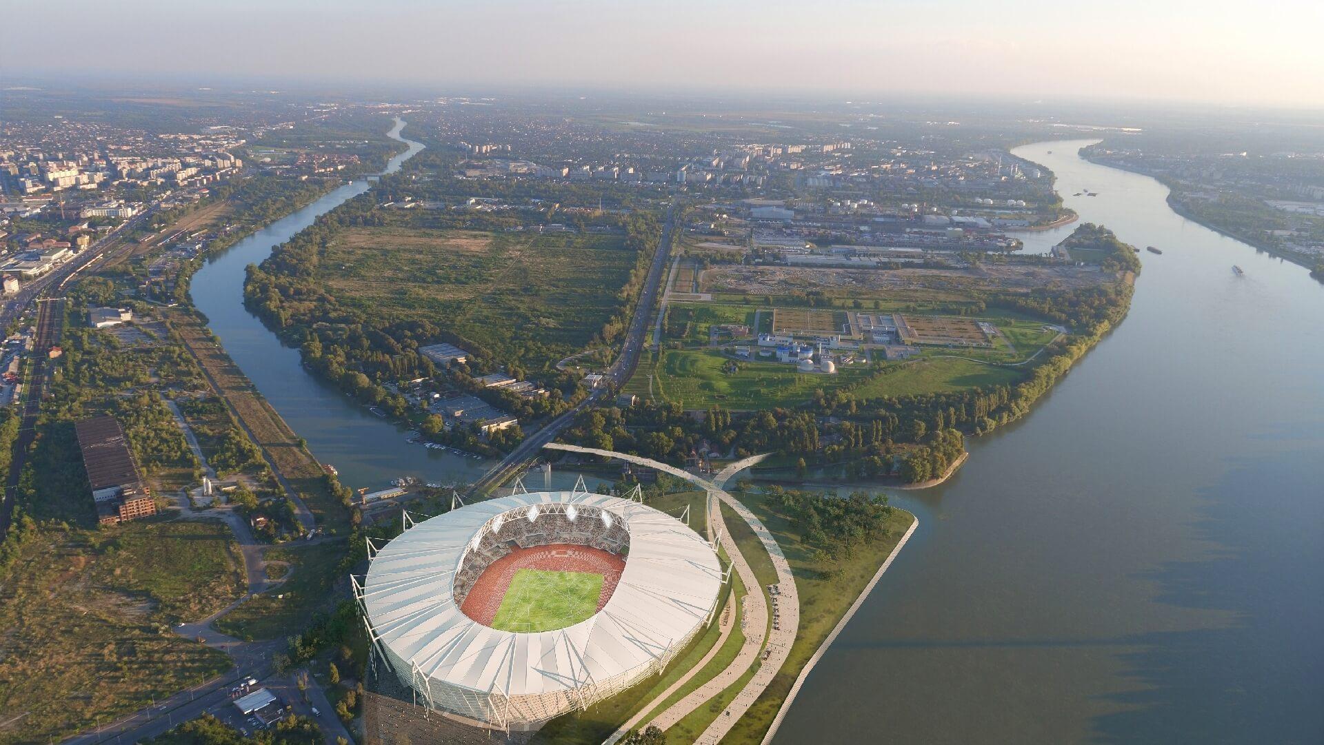 Budapesti Atlétikai Stadion - madártávlat észak felől