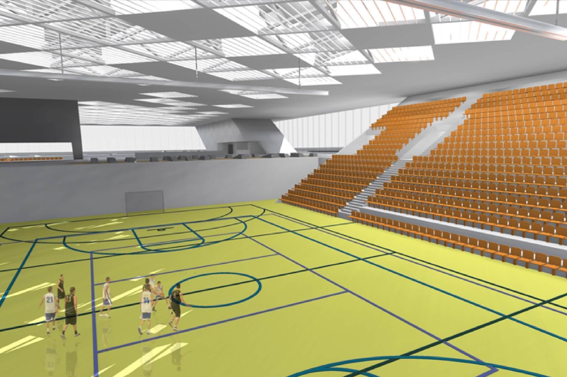 Nemzeti Közszolgálati Egyetem sportközpont belső sportpálya