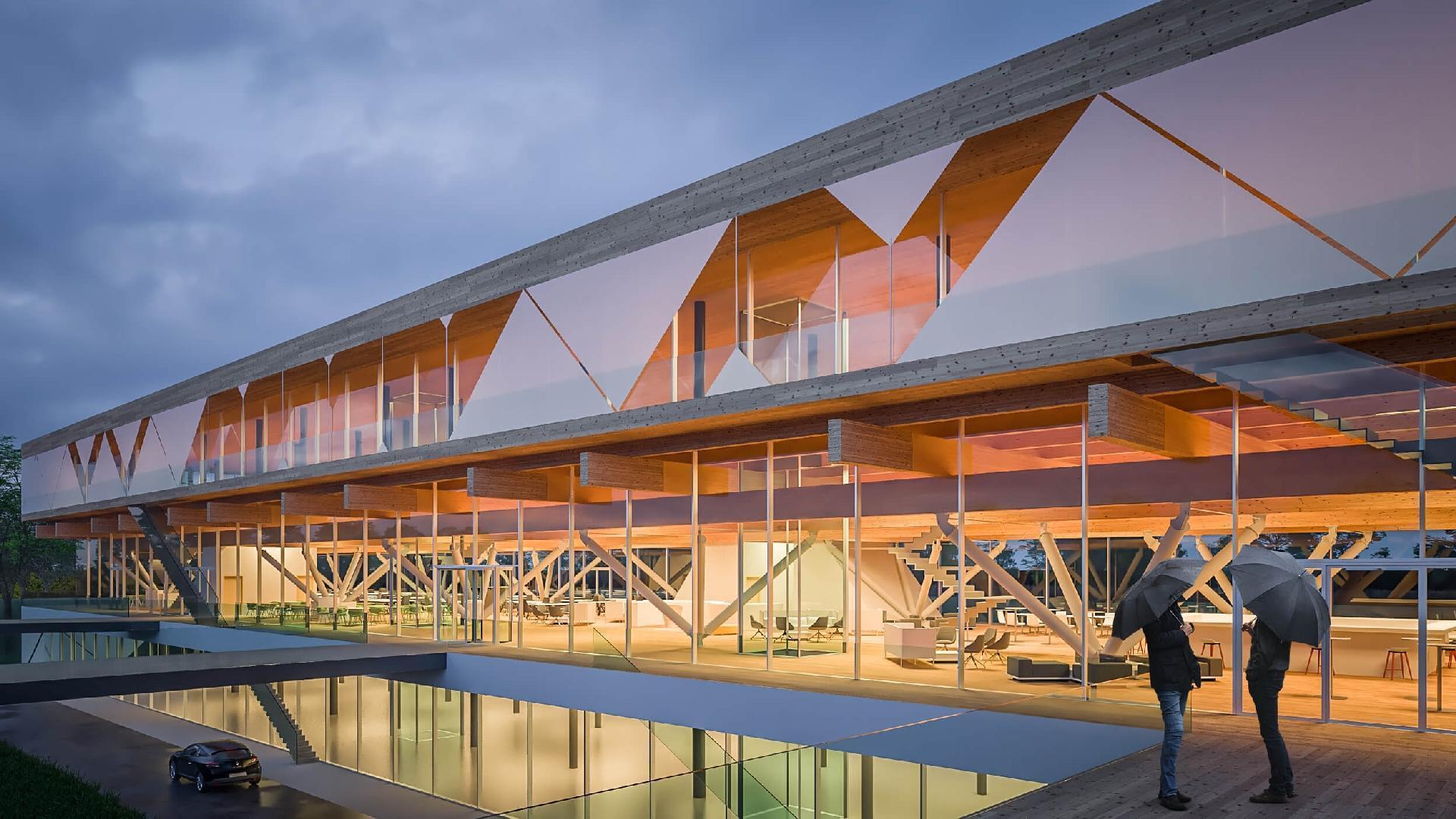 Innovációs Központ belső tere est