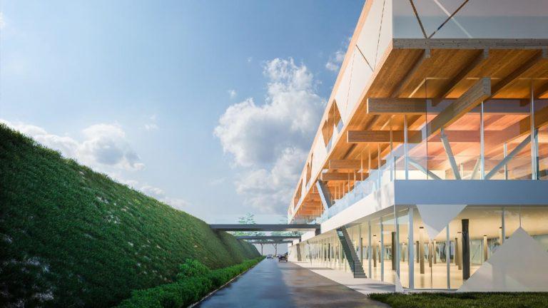 Innovációs Központ hídjai nappal