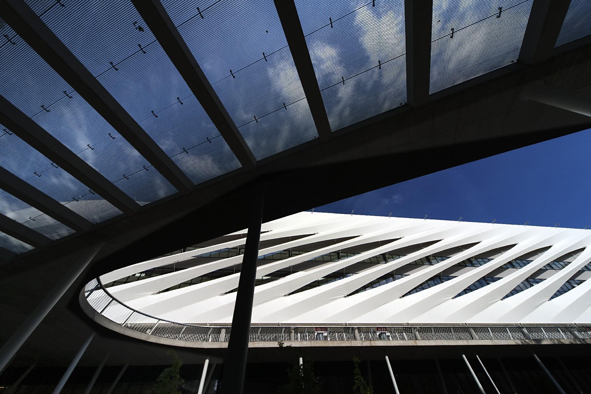 Nagyerdei Stadion homlokzati részlete
